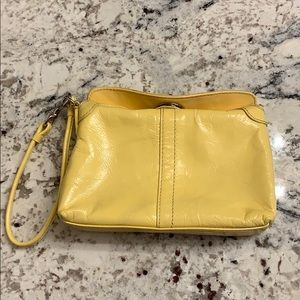 Coach Yellow Patent Wristlet
